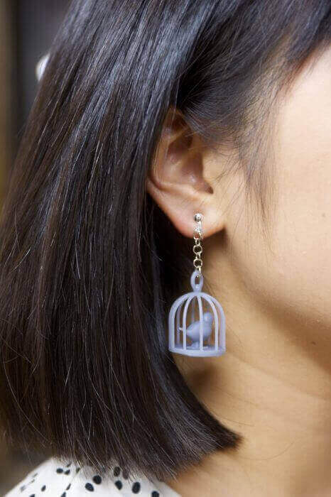 3d-printed-bird-cages earrings Twindom