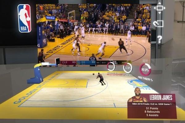 sports in Magic Leap demo Twindom